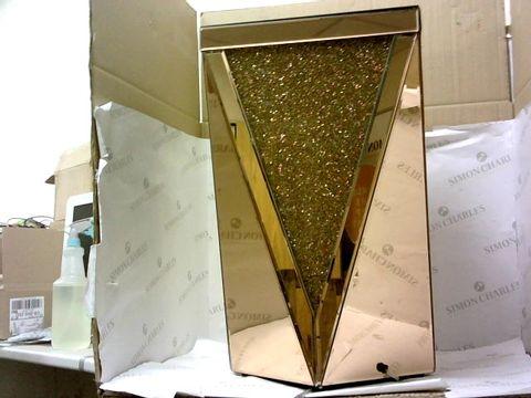 Lot 10498 JULIEN MACDONALD LIGHT-UP ENCAPSULATED CRYSTAL SIDE TABLE - ROSE GOLD
