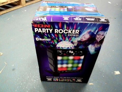 Lot 8399 ION PARTY ROCKER EXPRESS LIGHT SHOW & BLUETOOTH SPEAKER WITH MICROPHONE