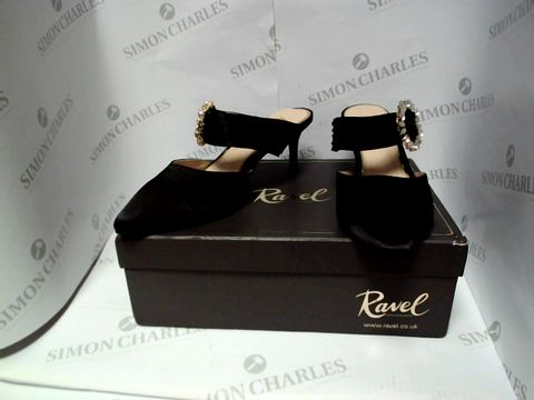 Lot 13090 BOXED PAIR OF DESIGNER REVEL HEELS - UK SIZE 6