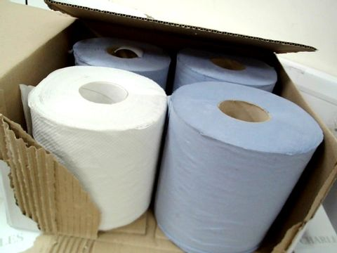 Lot 7513 BOX OF 4 DISPOSABLE PAPER ROLLS