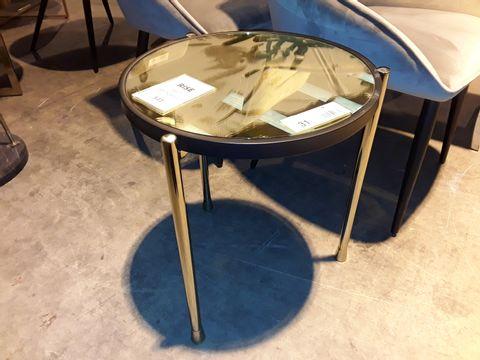 Lot 31 DESIGNER CIRCULAR GLASS TOP COFFEE TABLE