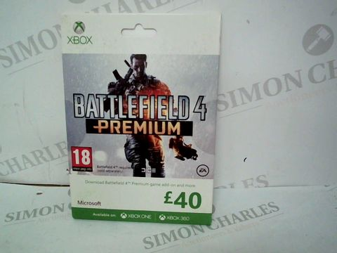 Lot 12471 SEALED BATTLEFIELD 4 PREMIUM £40 FOR XBOX