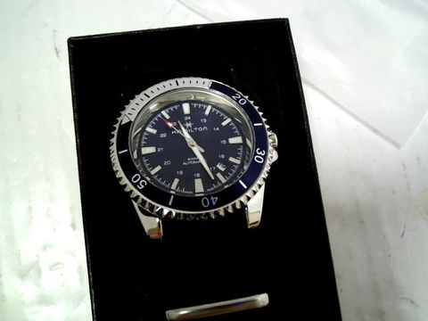 Lot 3084 DESIGNER BLUE DIAL BLUE STRAP WRISTWATCH