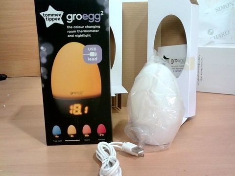 Lot 2300 TOMEE TIPPEE GROEGG 2 - COLOUR CHANGING ROOM THERMOMETER & NIGHLIGHT