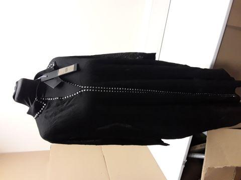 Lot 2059 DESIGNER PHASE EIGHT BLACK SHIRT DRESS WITH STUD DETAIL SIZE UK 10 RRP £75.00