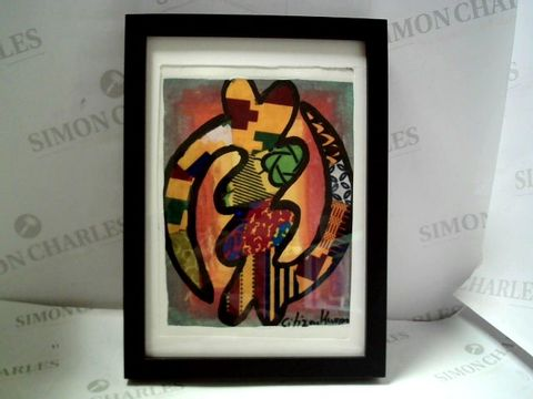 Lot 27 FRAMED ORINAL ARTWORK WITH SIGNATURE