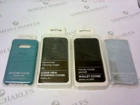 Lot 132 A BRAND NEW BOX OF APPROXIMATELY 21 SAMSUNG GALAXY PHONE CASES FOR VARIOUS MODELS