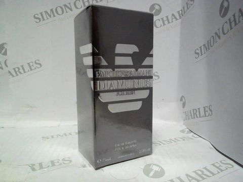 Lot 3015 BRAND NEW AND SEALED EMPORIO ARMANI DIAMONDS FOR MEN EDT 75ML