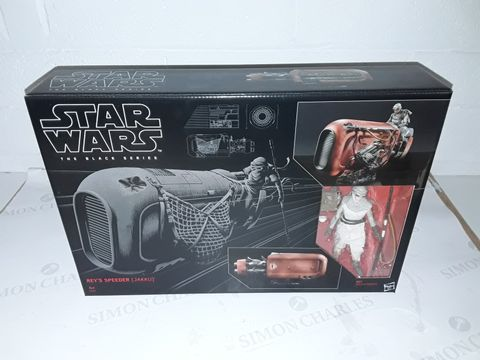 Lot 8411 STAR WARS THE BLACK SERIES REYS SPEEDER (JAKKU)