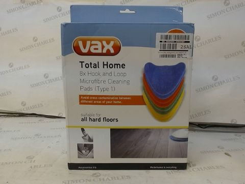 Lot 28 VAX TOTAL HOME MICROFIBRE CLEANING PADS X8 RRP £25.00