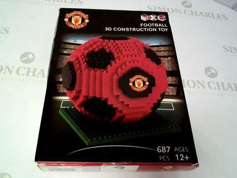 Lot 154 MANCHESTER UNITED FOOTBALL 3D CONSTRUCTION TOY