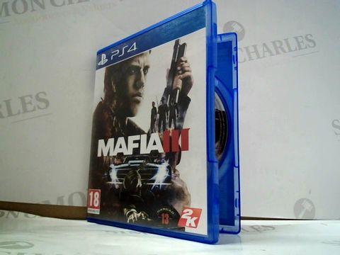 Lot 8184 MAFIA III PLAYSTATION 4 GAME