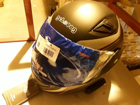Lot 98 GETNOOG MOTORCYCLE HELMET (SIZE UNKNOWN)