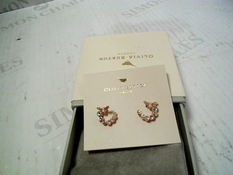 Lot 3181 DESIGNER OLIVIA BURTON ROSE GOLD TONE EARRINGS