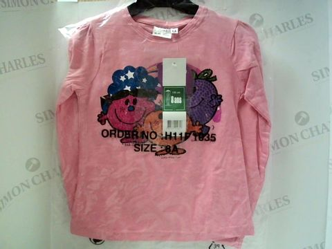 Lot 4886 BRAND NEW LITTLE MISS PINK LONG SLEEVED KIDS TOP SIZE 8 YEARS