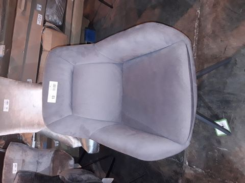 Lot 13 FOUR ASSORTED DESIGNER GREY UPHOLSTERED DINING CHAIRS