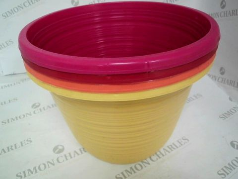 Lot 5003 SET OF 4 BELLAGIO COLOURED 10 INCH PLANTERS RRP £16.99