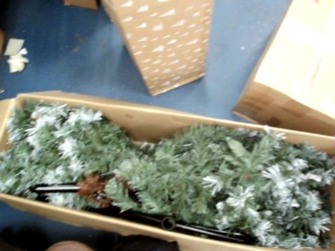 Lot 9010 WERCHRISTMAS PRE-LIT SCANDINAVIAN BLUE SPRUCE CHRISTMAS TREE WITH 400 CHASING WARM LED LIGHTS, 7 FEET/2.1M
