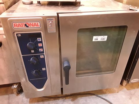 Lot 536 RATIONAL CD 6 TRAY ELECTRIC COMBI OVEN