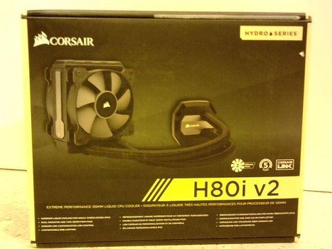 Lot 11629 CORSAIR CW-9060024-WW HYDRO SERIES H80I V2 120 MM HIGH PERFORMANCE ALL-IN-ONE LIQUID CPU COOLER