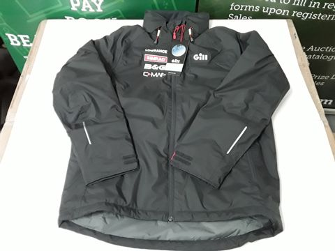 Lot 32 GILL NAVIGATOR JACKET IN GRAPHITE WITH QUAD BRAND - LARGE
