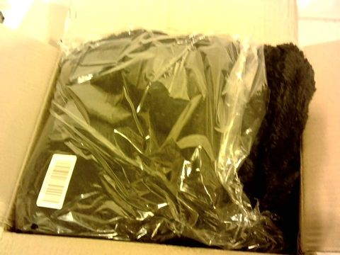 Lot 15311 COZEE HOME FLUFFY PONCHO IN BLACK