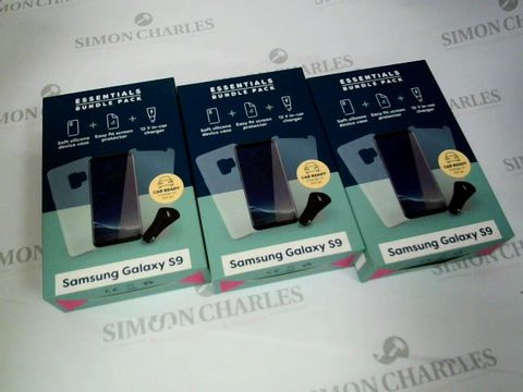 Lot 2610 3 X BRAND NEW BOXED SAMSUNG GALAXY S9 ESSENTIALS BUNDLE PACK