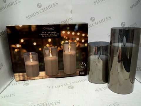 Lot 7365 LUMINEO - SET OF 2 LED WAX CANDLES