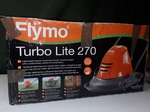 Lot 172 FLYMO TURBO LITE 270 ELECTRIC HOVER LAWN MOWER