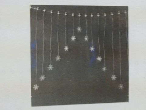 Lot 638 lot of 2 SNOWFLAKE COLOUR CHANGING CURTAIN LIGHT CHRISTMAS DECORATION RRP £49.98
