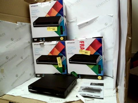 Lot 12102 LOT OF 4 POLAROID COMPACT HDMI DVD PLAYERS - BLACK