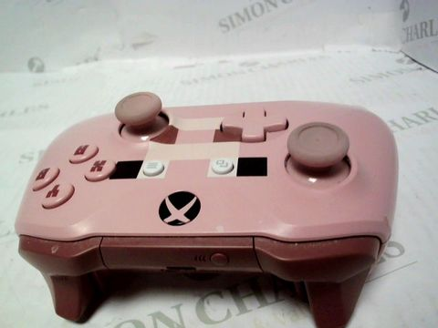 Lot 812 OFFICIAL XBOX WIRELESS MINECRAFT PIG CONTROLLER