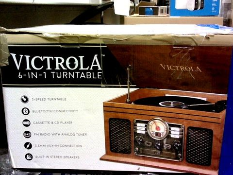 Lot 1017 VICTROLA CLASSIC 6-IN-1 BLUETOOTH TURNTABLE MUSIC CENTRE