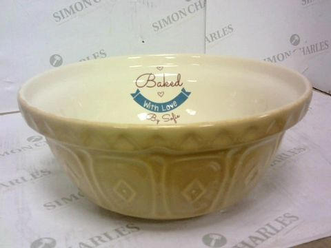 Lot 42 PERSONALISED 'BAKED WITH LOVE BY SOFIE' BAKING BOWL  RRP £38.00