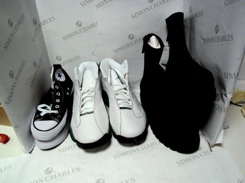 Lot 1256 LOT OF APPROXIMATELY 14 PAIRS OF UNOXED SHOES TO INCLUDE CONVERSE, NIKE, BERSHKA ETC.