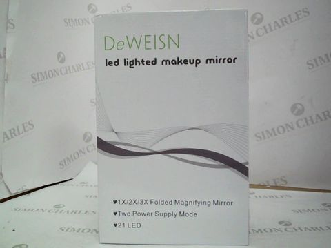 Lot 310 DEWEISN - LED LIGHTED MAKE UP MIRROR