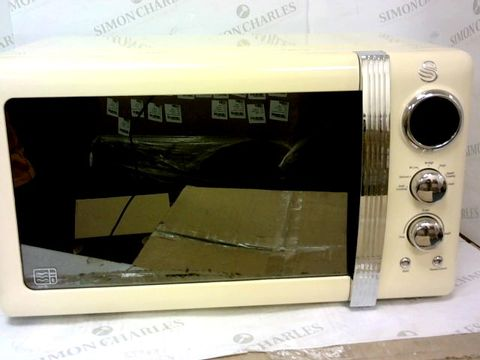 Lot 70 SWAN 800W 20L MICROWAVE IN CREAM