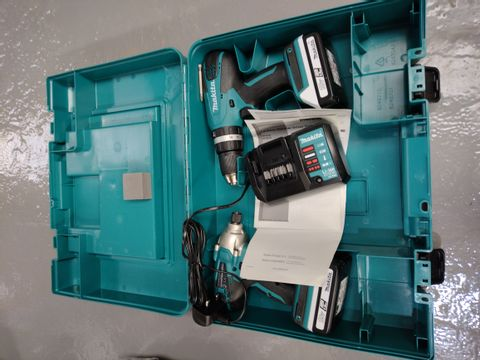 Lot 67 MAKITA 18V G SERIES COMBI DRILL KIT RRP £259.99