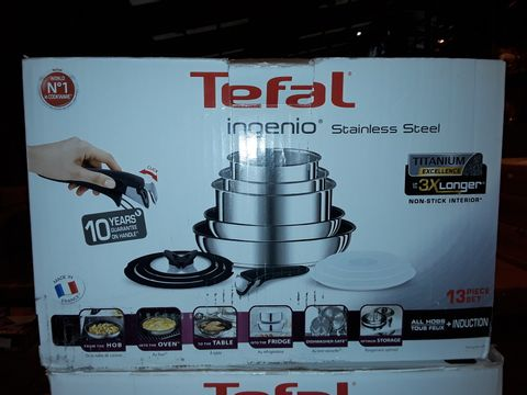 Lot 8281 TEFAL INGENIO STAINLESS STEEL COOKWARE SET