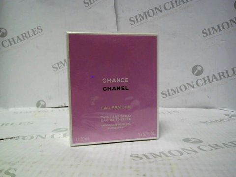 Lot 8080 BRAND NEW AND SEALED CHANEL CHANCE EAU FRAICHE TWIST & SPRAY EDP 3X20ML