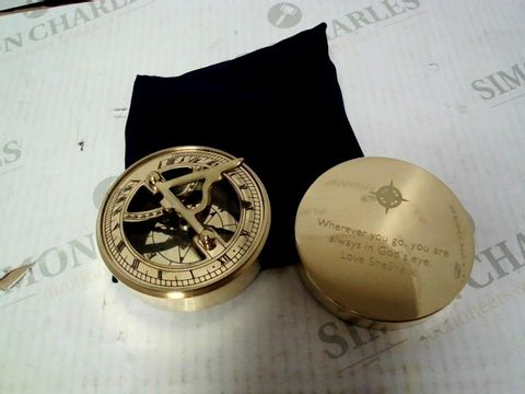 Lot 4304 ICONIC ADVENTURER'S SUNDIAL COMPASS - PERSONALISED LID RRP £82.99