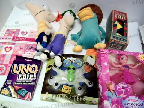Lot 163 A SMALL BOX OF ASSORTED KIDS TOYS AND GAMES