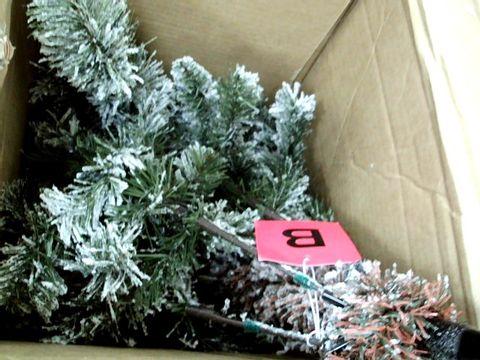 Lot 11045 WE R CHRISTMAS 7FT SLIM FLOCKED SPRUCE TREE