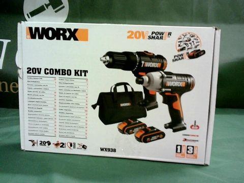 Lot 9070 WORX 20V COMBO KIT
