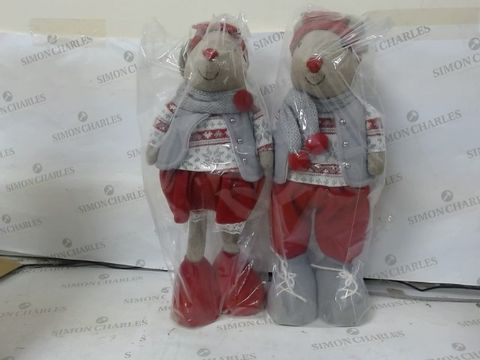 Lot 617 LOT OF 2 STANDING MOUSE ROOM DECORATION  RRP £46.00