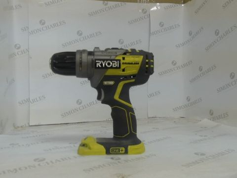 Lot 1423 RYOBI BRUSHLESS ONE + DRILL BATTERY NOT INCLUDED