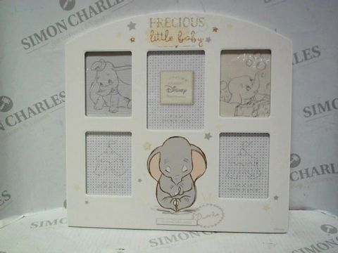 Lot 7676 DISNEY DUMBO BABY 5 APERTURE PHOTO FRAME (6.5X8.5CM PICTURES)