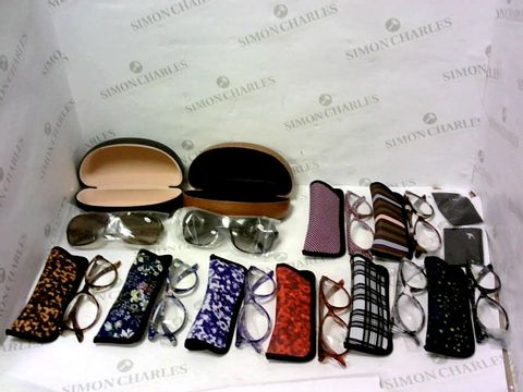 Lot 10433 SET OF 8 READING GLASSES & 2 PAIRS OF SUNGLASS READERS +3.50 - ASSORTED COLOURS
