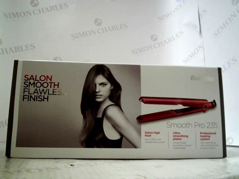 Lot 3212 BABYLISS SMOOTH PRO 235 HAIR STRAIGHTENER
