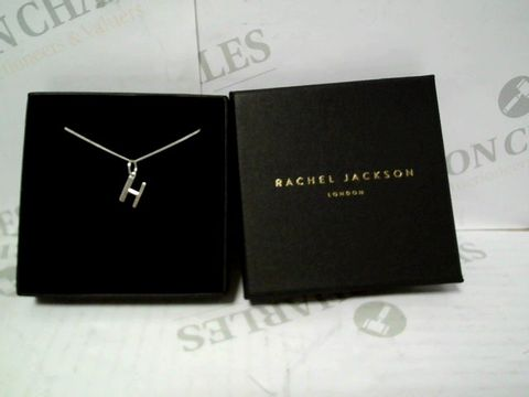 Lot 9043 RACHEL JACKSON LONDON ART DECO SILVER INITIAL NECKLACE RRP £52.00